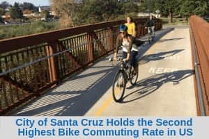 City of Santa Cruz Holds the Second Highest Bike Commuting Rate in US