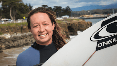 Autumn Hayes Santa Cruz surfer