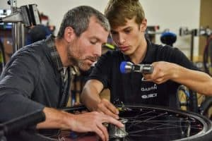 Bike Tech Teacher and Student/Santa Cruz County Office of Education