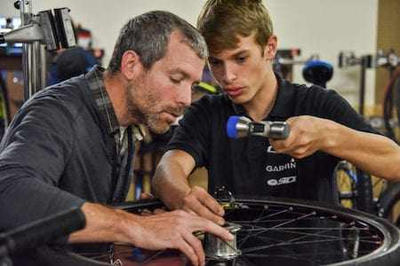 Bike Tech Teacher and Student/Santa Cruz County Office of Education