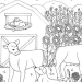 Santa Cruz farm coloring page