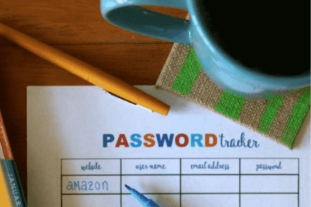 organizing passwords