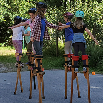 Kids on Stilts
