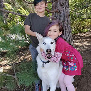 Fresh air with the kids and furbaby Nanook